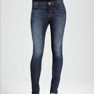 J BRAND WARWICK mid-high rise dark skinny jeans
